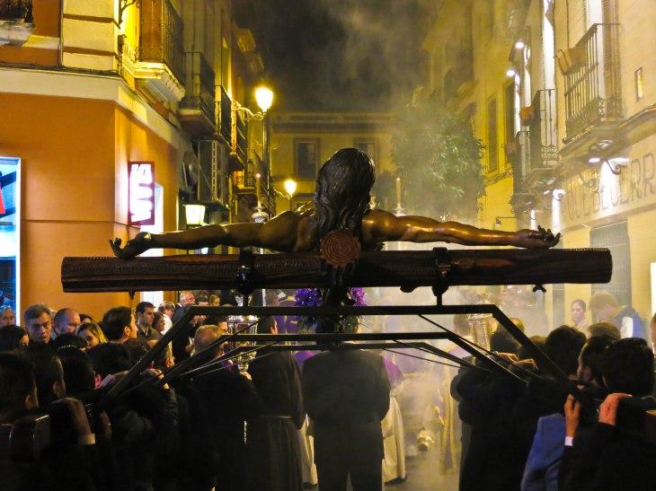 via crucis hermandad San Buenaventura.
