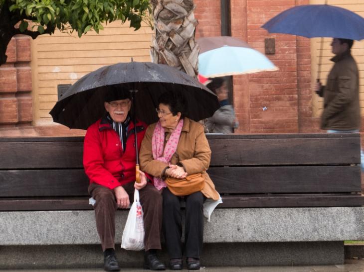 La lluvia en Sevilla, es pura maravilla