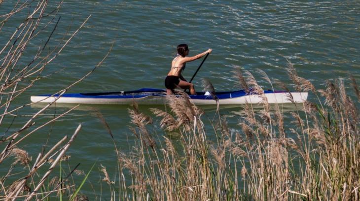 Deportes en el rio.
