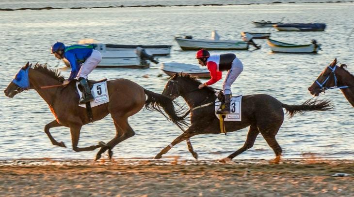 Carreras caballo en Sanlucar